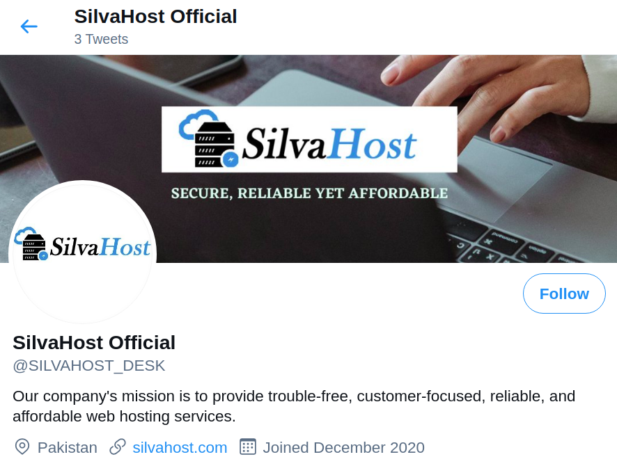 SilvaHost Twitter